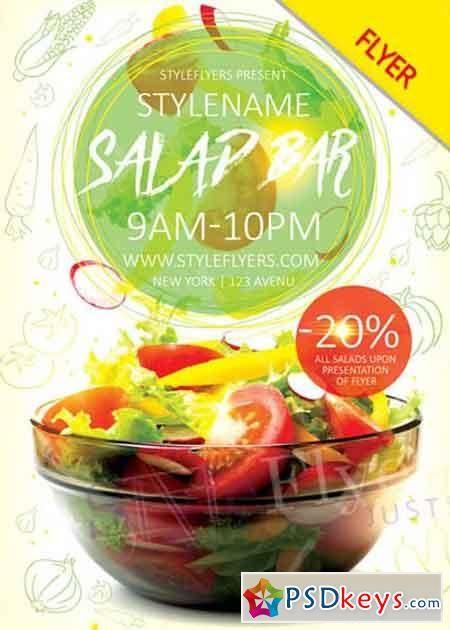 Salad Bar Flyer V Psd Flyer Template  Food Menu