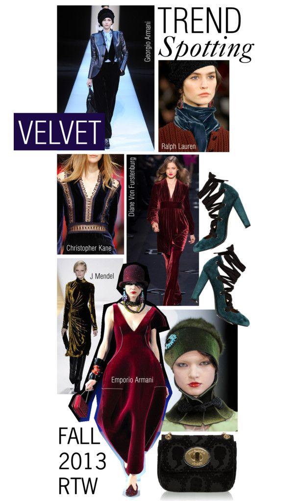 """Trend Spotting: Velvet"" by missbeaheyvin ❤ liked on Polyvore"