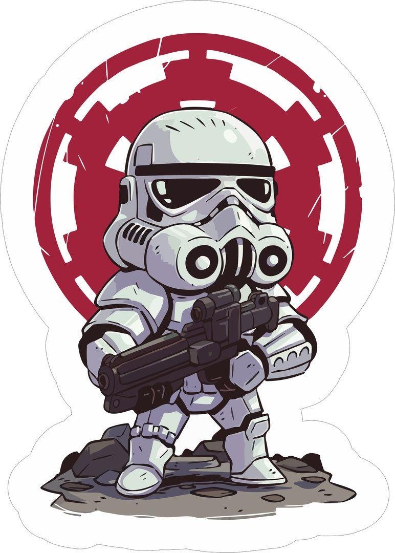 Star Wars Sticker. vector element for design การ์ตูน