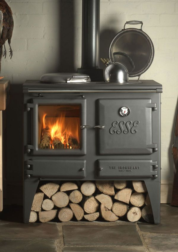 Super Efficient Woodstove/hot Water Heater/cookstove Combo   And Handsome  To Boot!