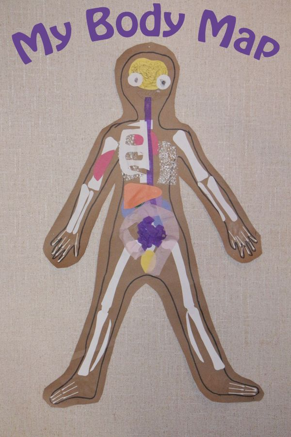 Make a Life Size Body Map to Help Kids Learn Anatomy | Human Body ...