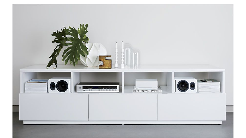 Chill Large White Media Console Media Console Modern Storage