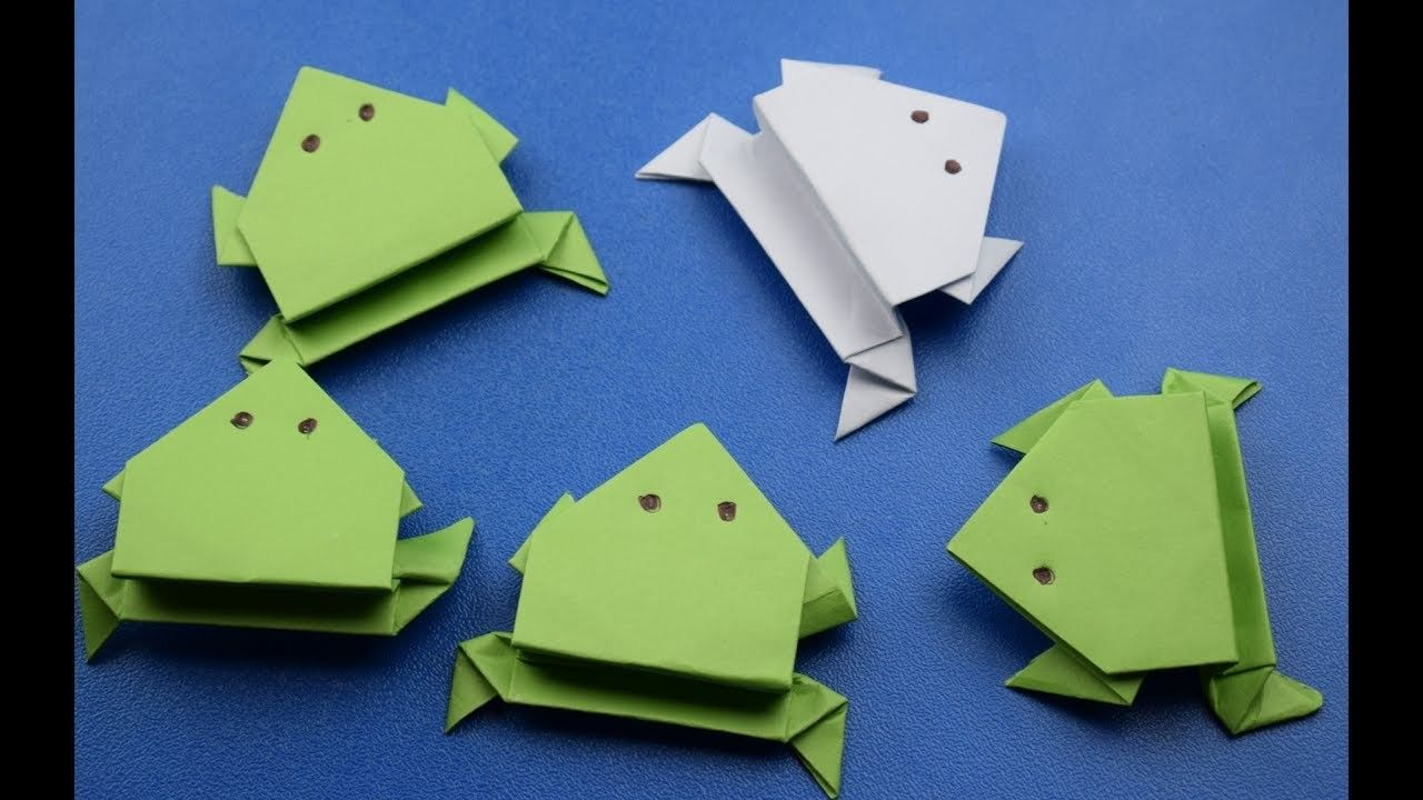 How to make a paper jumping frog origami frogs and papercraft how to make a paper jumping frog origami diy craft ideas jeuxipadfo Image collections
