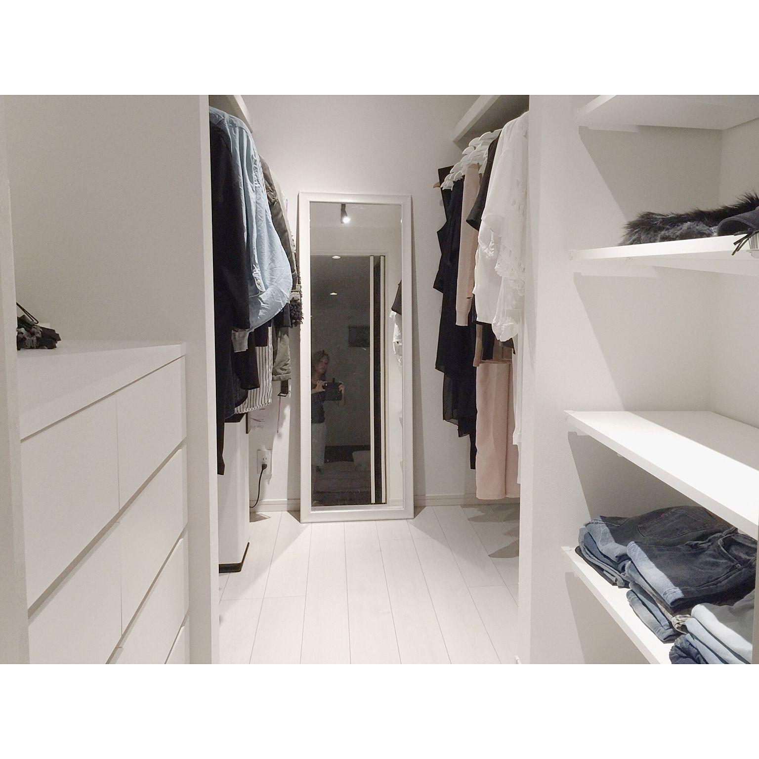 87e65d1092 衣類収納/ウォークインクローゼット/WIC/IG▷ ▷︎monochrome001/新築一戸建て…などのインテリア実例 - 2016-08-16  23:54:31 | RoomClip(ルームクリップ)