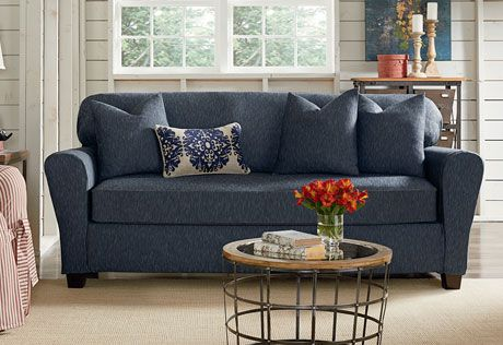 Sure Fit Slipcovers Stretch Denim Separate Seat Slipcovers Sofa