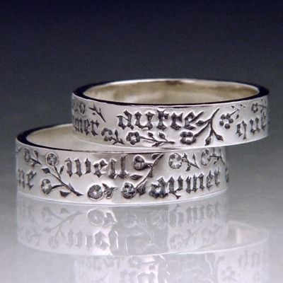 French Wedding Ring Inscriptions