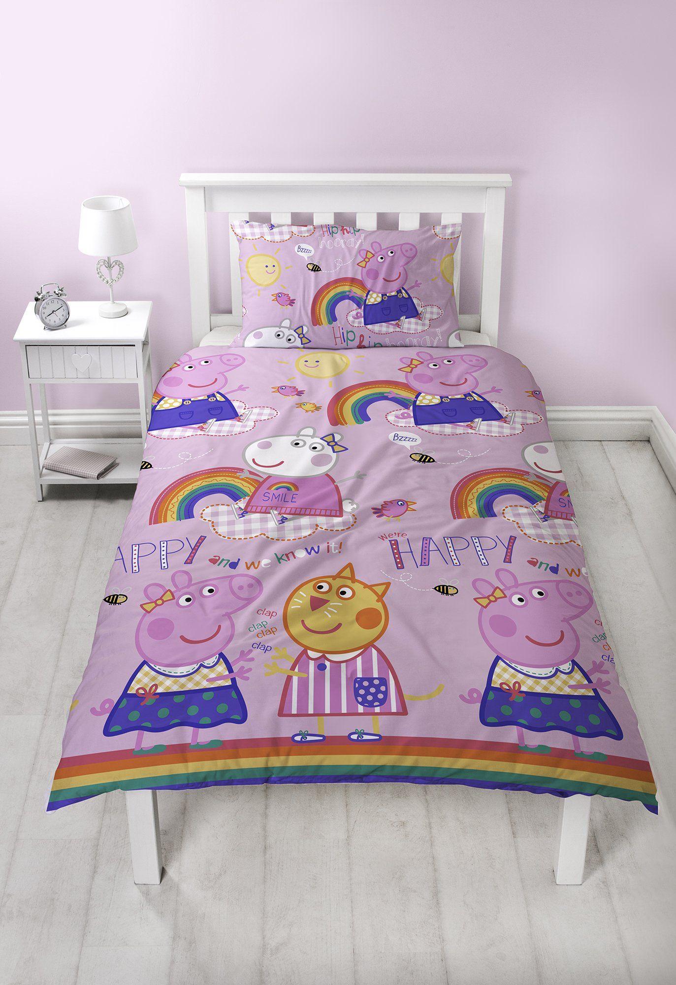 Girls Peppa Pig Bedding Single duvet cover, Duvet sets