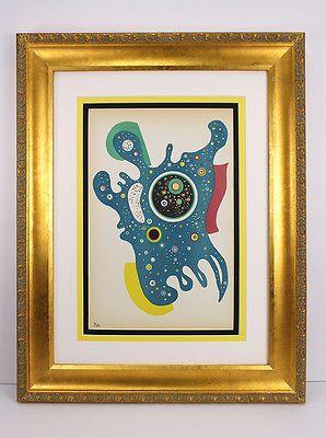 SIGNED 1938 ORIGINAL Wassily KANDINSKY High Value Lithograph STARS Framed COA https://t.co/ygu9XzUnGl https://t.co/ThsF1bOsAl