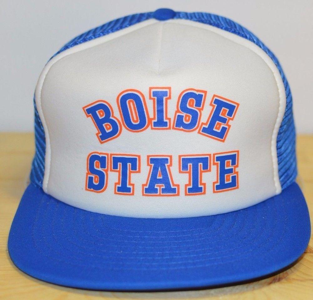 Boise State Broncos Vintage Trucker Hat Snapback Mesh Cap Sport College  Idaho  BoiseState  Cap  Sport bce91650acd