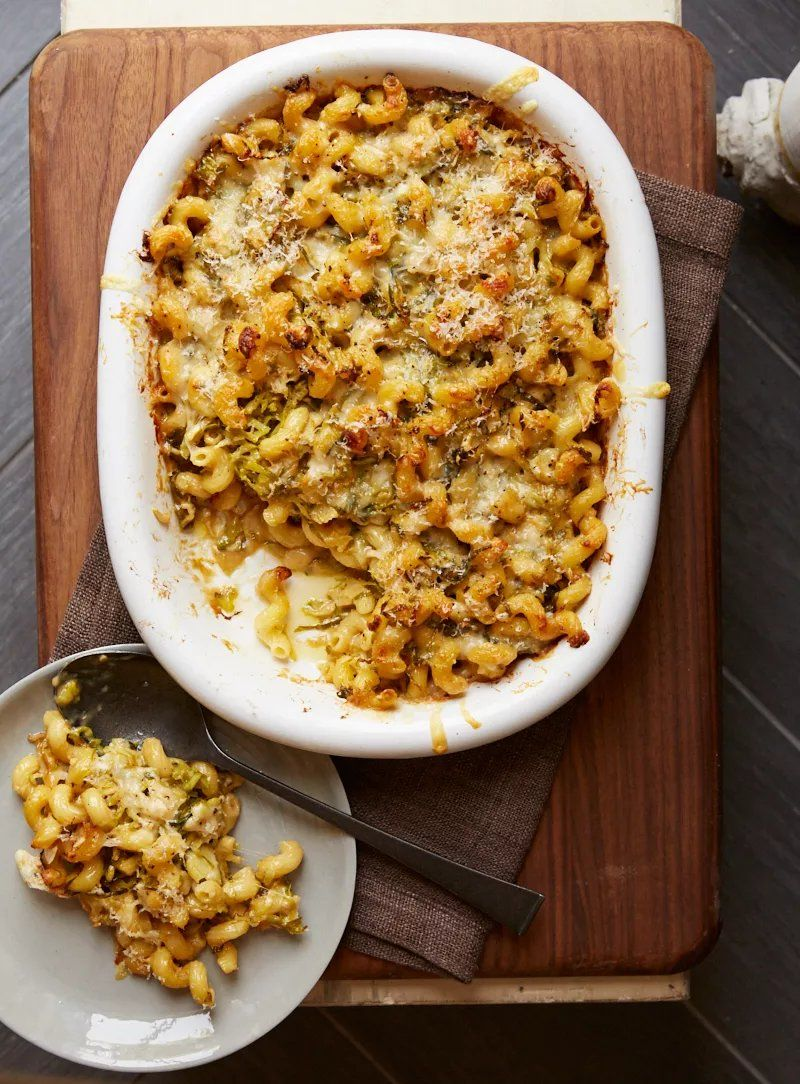 Brussels And Three Cheese Pasta Bake Recipe Pasta Recipes
