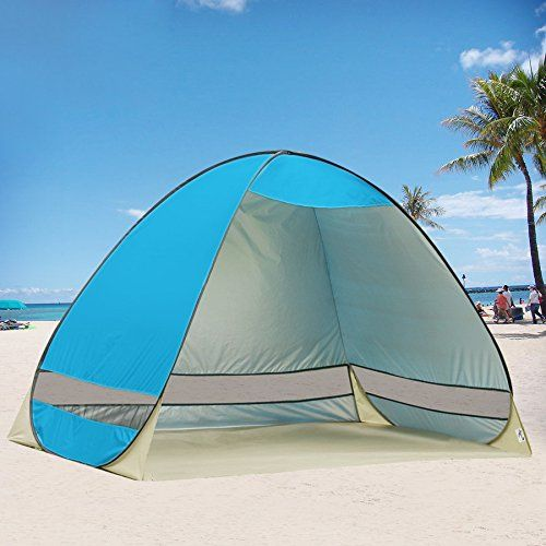 Outdoor Automatic Pop up Instant Portable Cabana Beach Tent Person C&ing Fishing Hiking Picnicing UV Protective Shelter Sets up in Seconds (Blue) & G4Free Outdoor Automatic Pop up Instant Portable Cabana Beach Tent ...