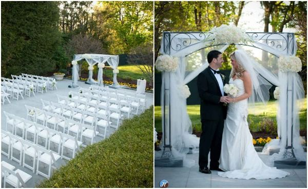 White Tulle Chuppah Wedding Canopy By H Photographers