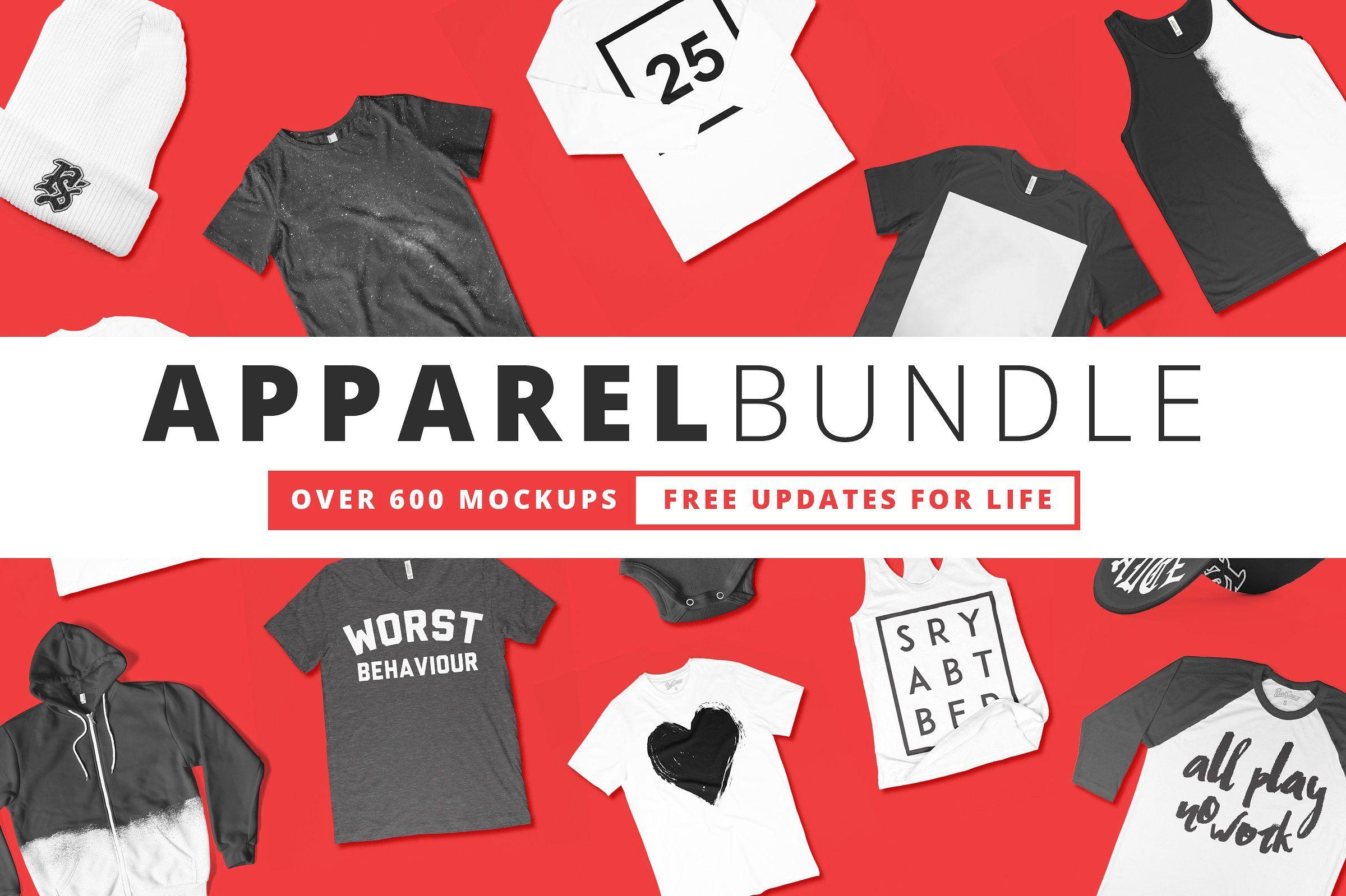 Download 2000+ Apparel Mockups Bundle | Clothing mockup, Shirt ...