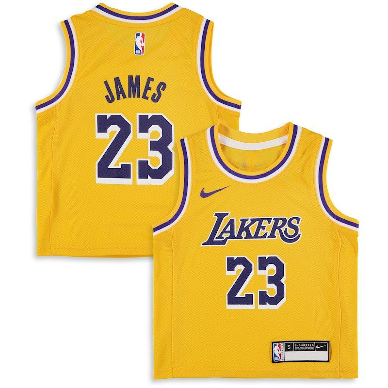 d746c12d46a LeBron James Los Angeles Lakers Nike Preschool 2018 19 Replica Jersey -  Icon Edition – Gold