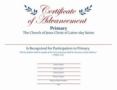 Just Another Idea Primary Graduation Certificates Ward Clerk Can
