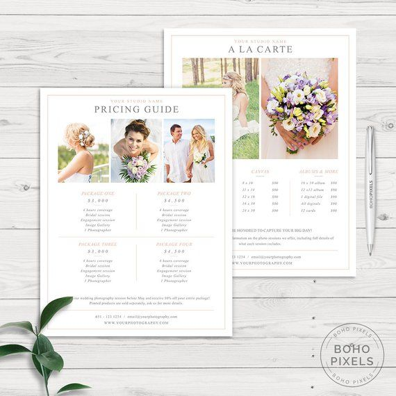 Photography Pricing Template - Photography Pricing Guide - Price