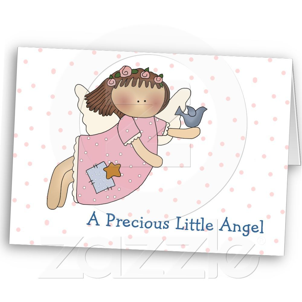Angel with bird baby girl greeting card from zazzle baby girl angel with bird baby girl greeting card from zazzle kristyandbryce Image collections
