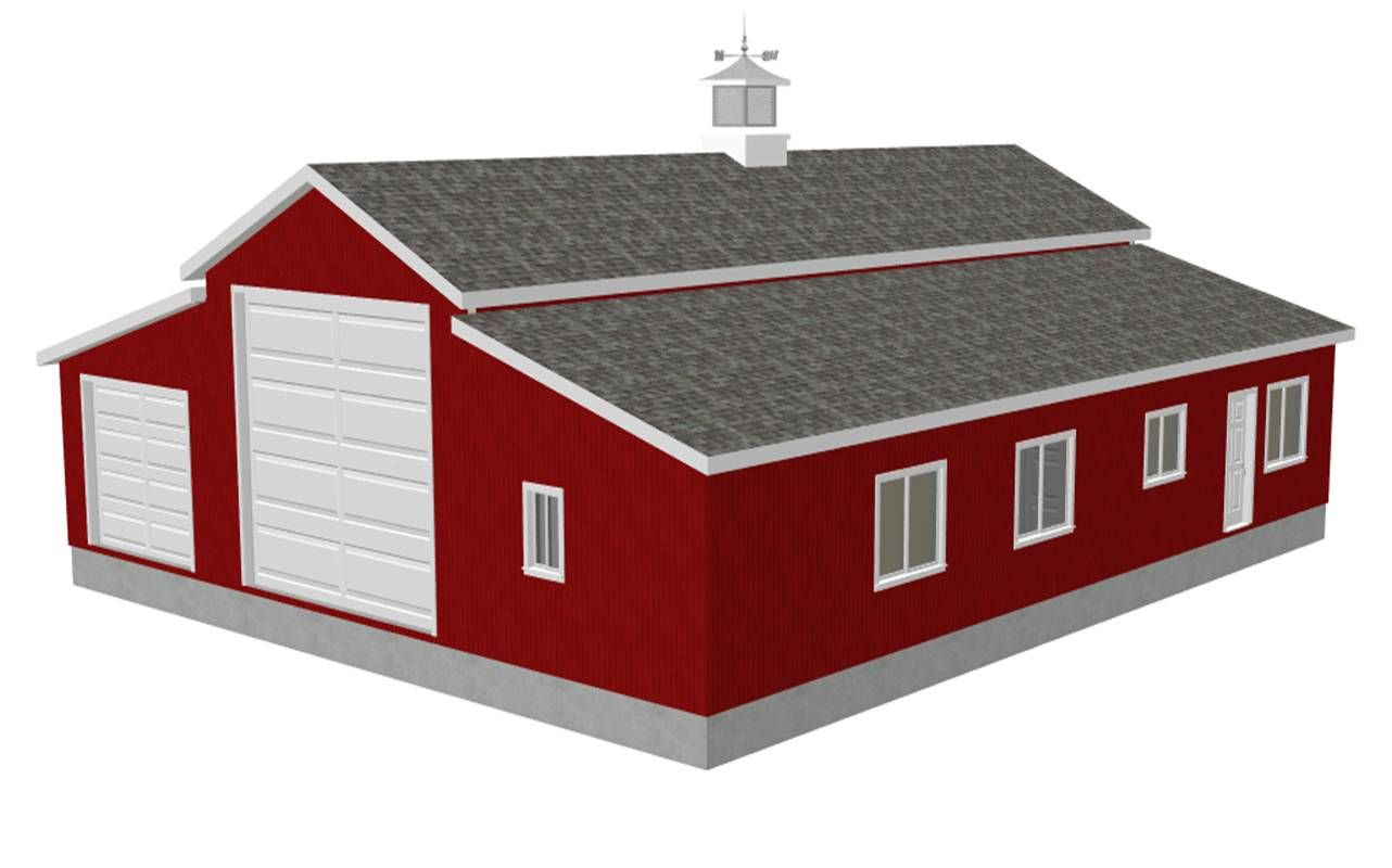 Barn ideas rv workshop apartment barn plans free house for Small garage plans free