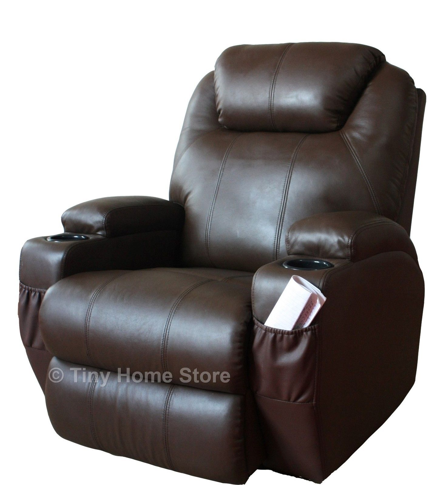 electric leather recliners with cup holders Luxury
