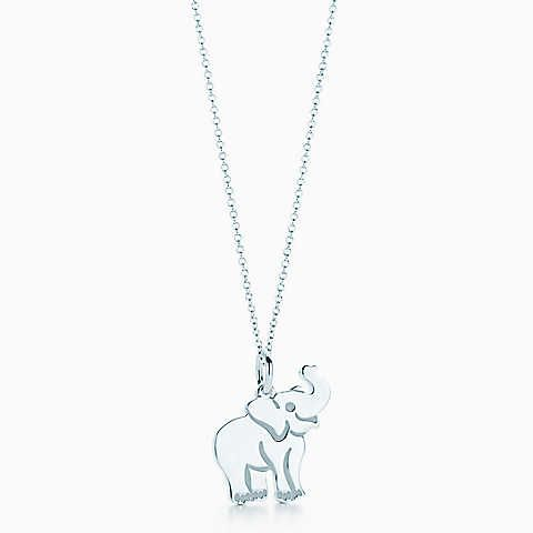 82220849aadf6 Elephant tag charm in sterling silver on a chain. I need this ...