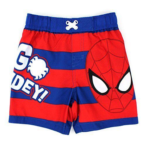 8508a6d0d7550 Spider-Man Boys Swim Trunks Swimwear #SpiderMan #WebSlinger #Marvel # Superhero #FunStartsHere #EverythingCharacter #YankeeToyBox Swimsuit