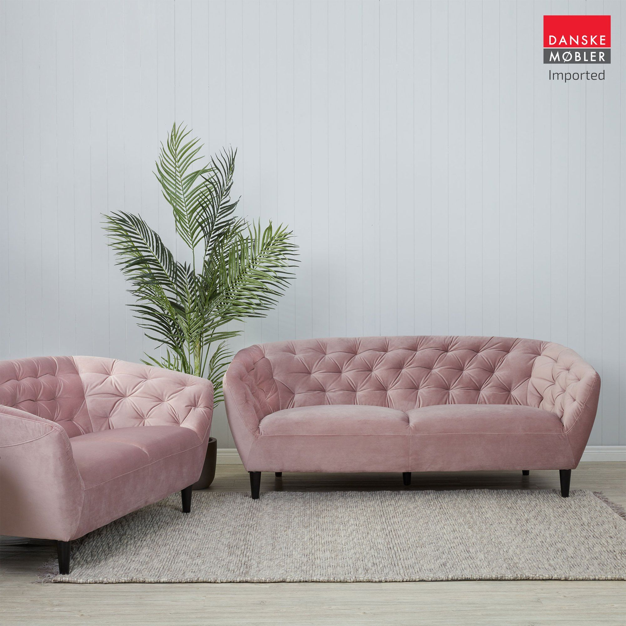 Ria Rose Velvet 3 Seater Sofa Sofa Offers Contemporary Lounge Tufted Sofa