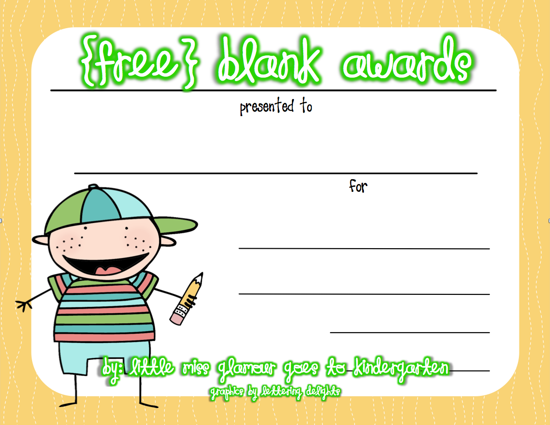 Free Certificates Great For End Of The Year Kindergarten