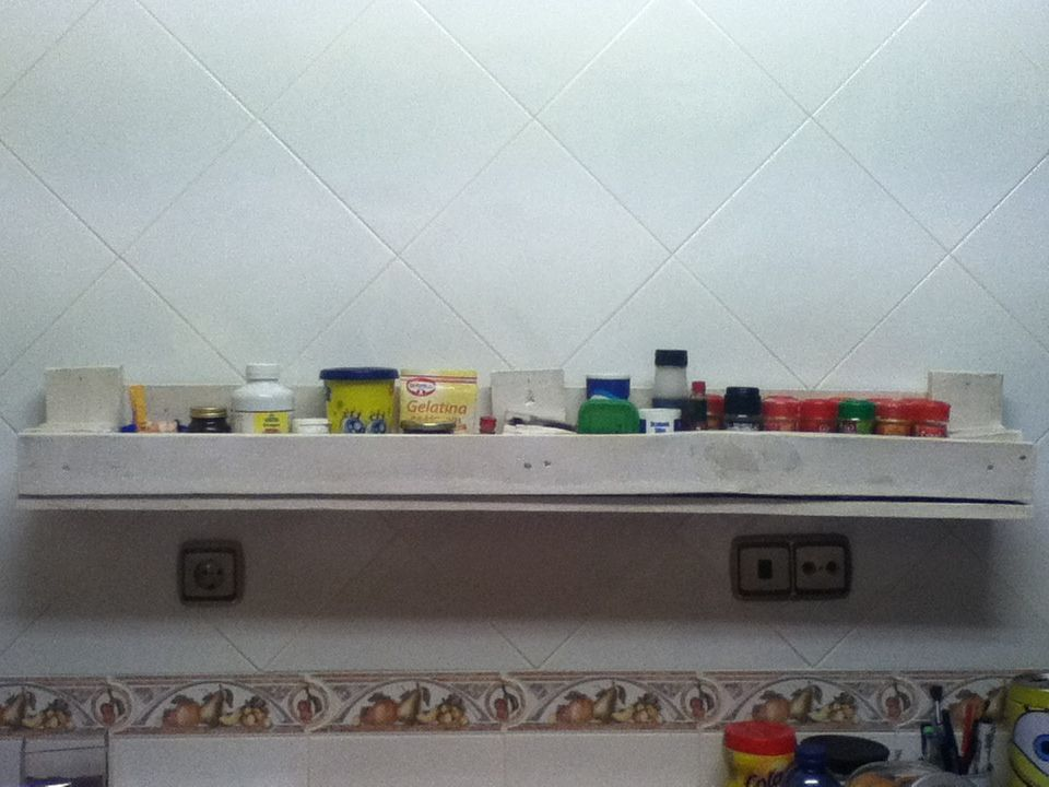 Estantería para la cocina con palets. | Cocina | Pinterest