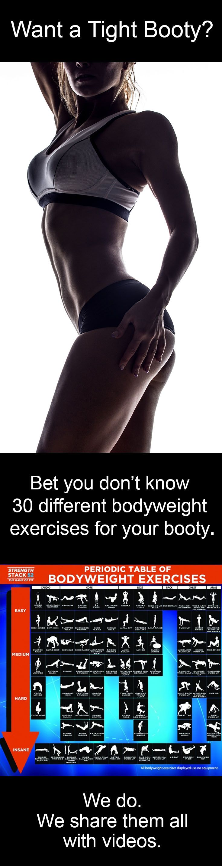 Learn Dozens Of Diffe Bodyweight Exercises That Will Shape Booty Http Strength