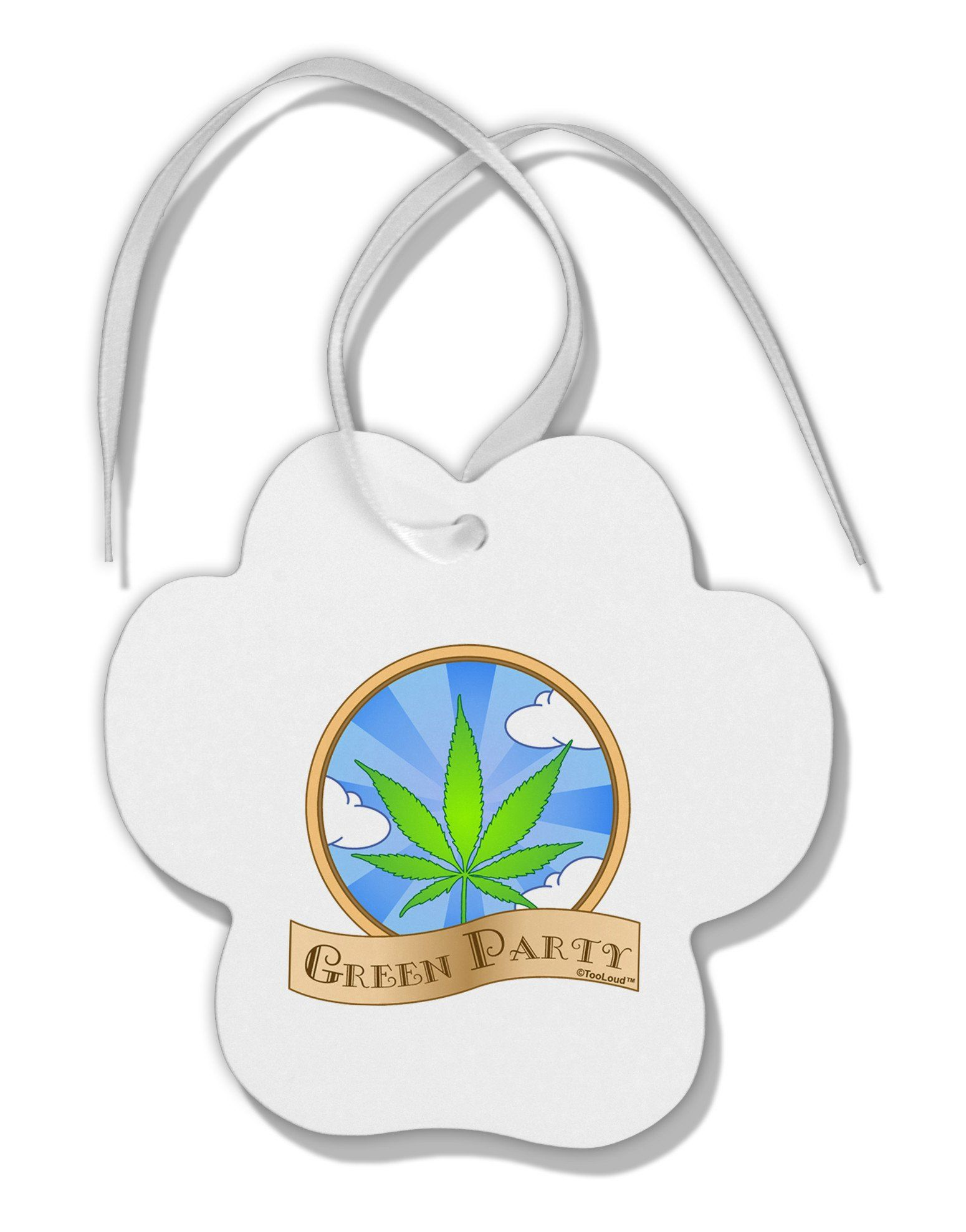 Green Party Symbol Paw Print Shaped Ornament Green Party And Products