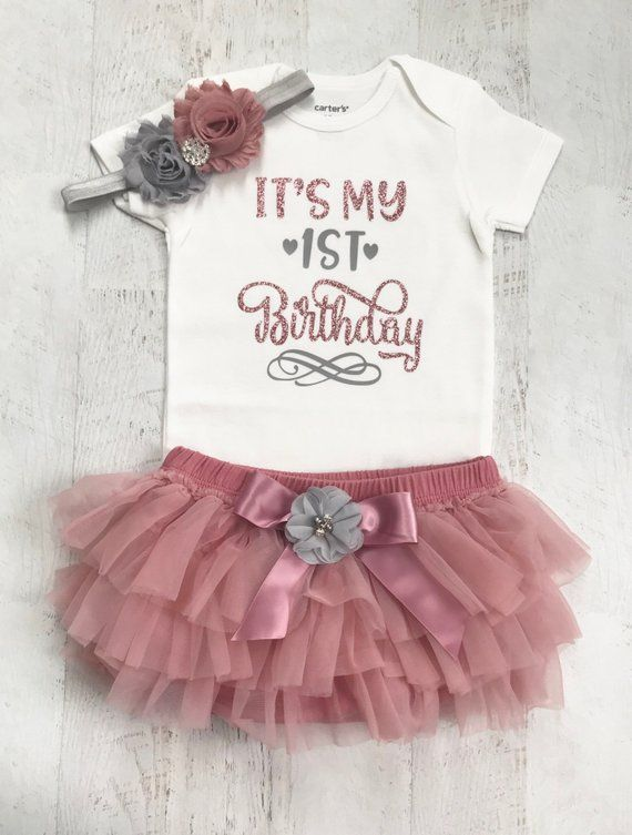 First Birthday Outfit Girl Its My Cake Smash Birt