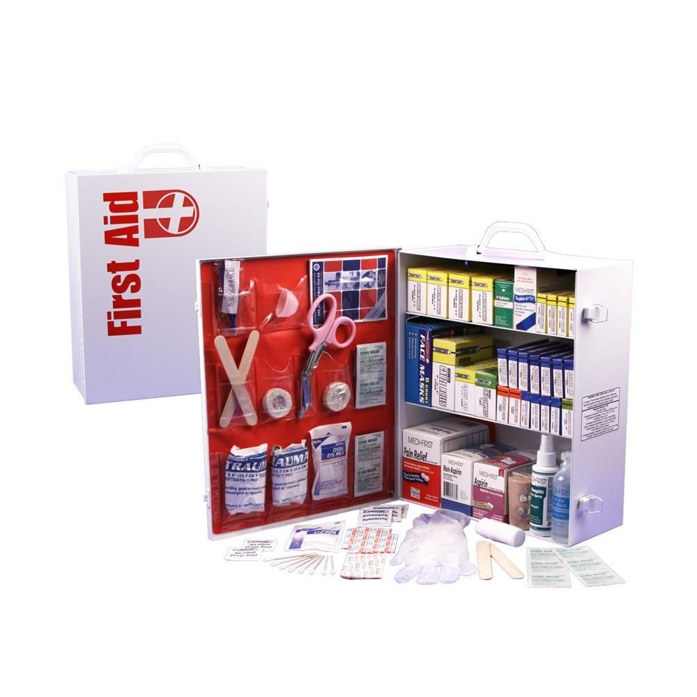 Rapid Care 800 Piece 3 Shelf Osha Ansi First Aid Cabinet White First Aid Cabinet First Aid Survival Supplies