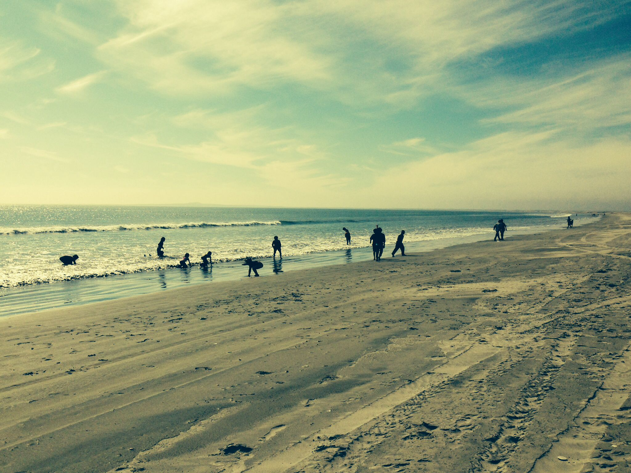 Beach Children Playing On The San Quintin Mexico