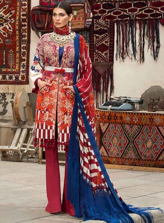 New Arrival Winter Dresses 2018 by Sana Safinaz | Shoes | Pinterest ...