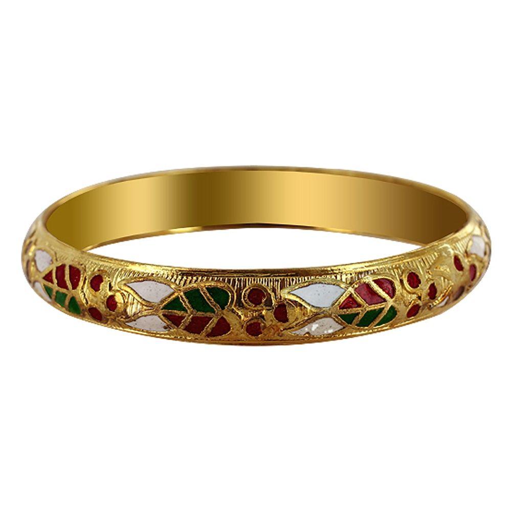 mm wide Gold Tone Fashion Bangle Bracelet Size SBBF Silver