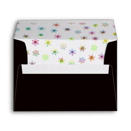 Black A Envelope X Snowflake  Bridal Showers Bridal Showers