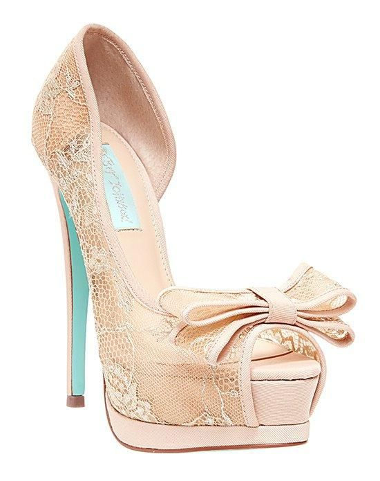 65c98df952aa Blue by Betsey Johnson SB-VAIL - CHAMPAGNE Wedding Shoes photo ...