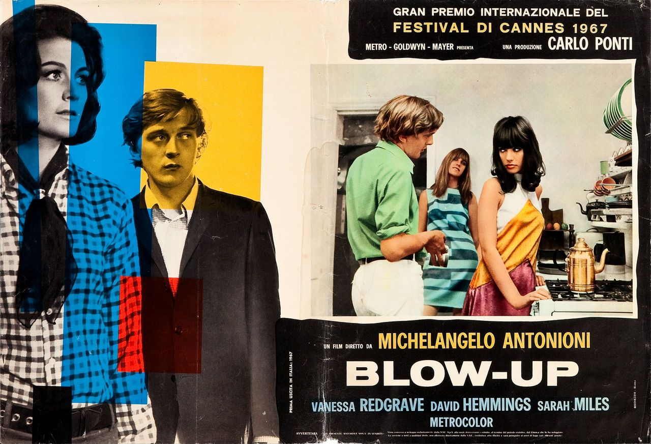 Blow-Up, Italian lobby card (fotobusta). Italian original theatrical release 1967