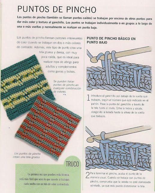 Patrones para Crochet: Punto Pincho de Crochet Tutorial | CROCHET ...