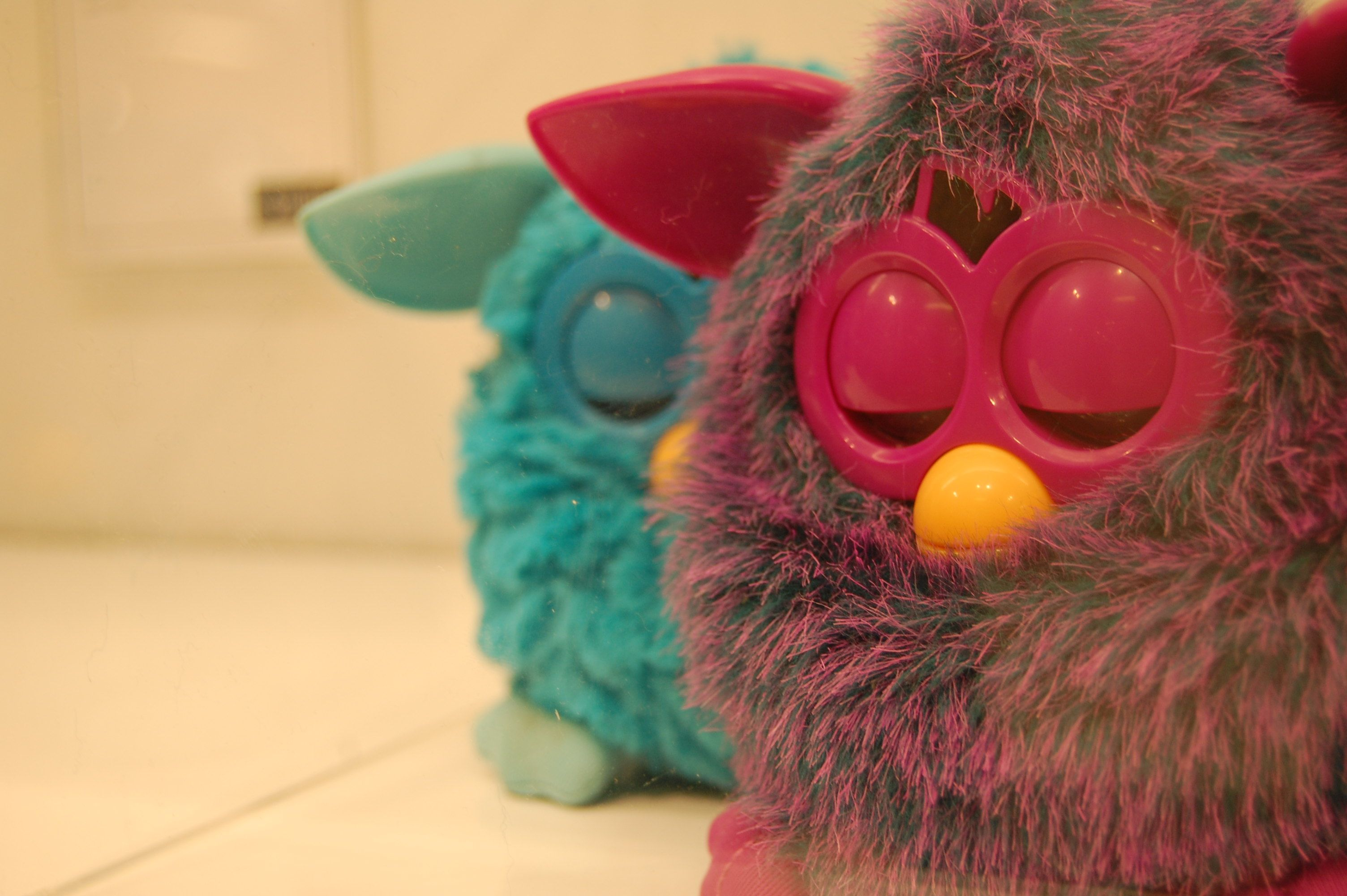 #Furby at rest: The rarest of occurences. Shh… #FurbyAtWIRED
