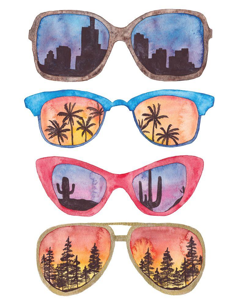 Sunglasses Drawing Easy : sunglasses, drawing, Sunglasses, Retro, Painting,, Drawing, Sunglasses,, Acrilic, Paintings