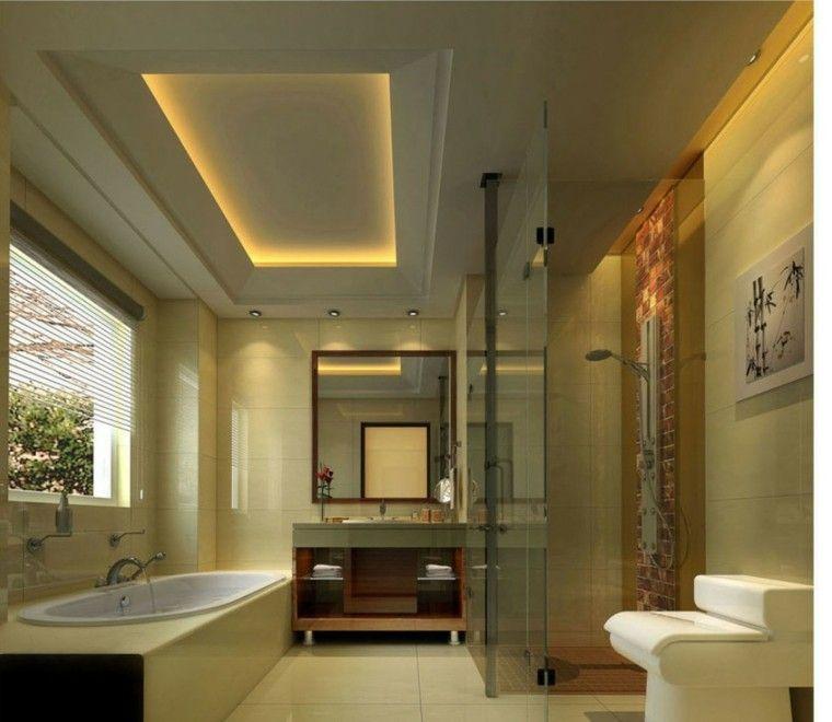 Ba os modernos con ducha cincuenta ideas estupendas - Modelos de banos y duchas ...