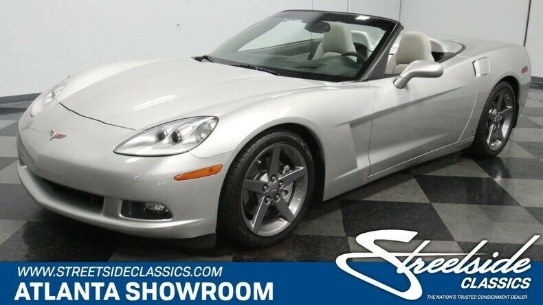 2006 Chevrolet Corvette 3lt Convertible Modern Classic Chrome Chevy 3lt Ls2 V8 Auto Transmission Machine Silver Chevrolet Corvette Corvette For Sale Corvette