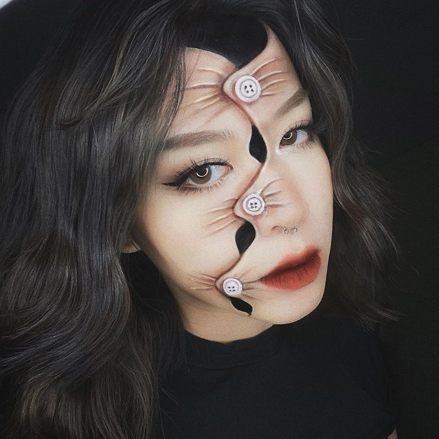 This Self-Taught Artist Can Transform Herself Into Mind-Bending Optical Illusions (25 Pics)