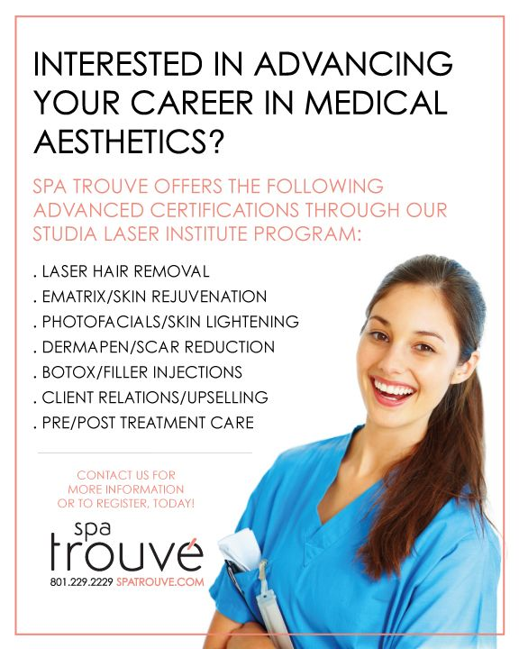 Medical Aesthetic Training now offered through Spa Trouve  Visit www
