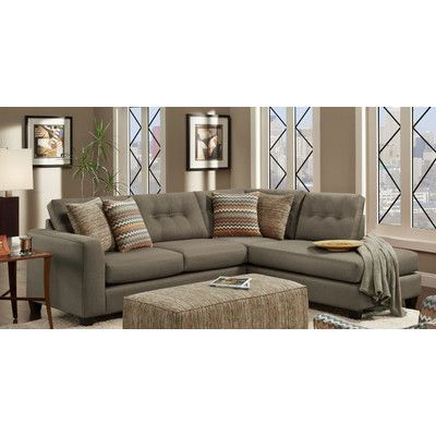 Chelsea Home Phoenix Right Hand Facing Sectional & Reviews | Wayfair