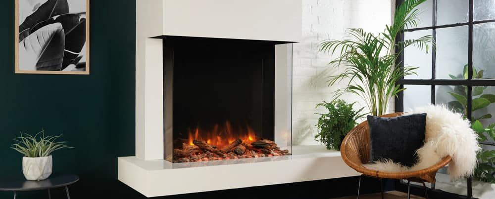 Skope 75w Outset With Log Pebble Fuel Effects 1 Electric Fires Freestanding Electric Fire Classic Fireplace