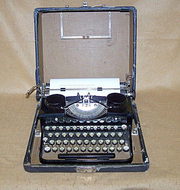 vintage royal portable typewriter