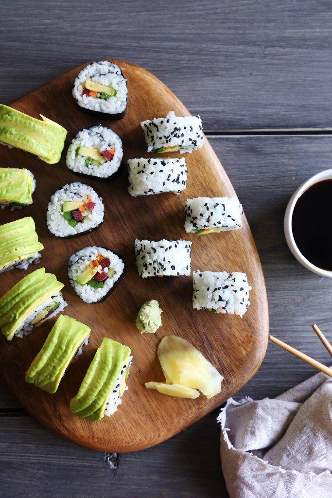 Veggie Sushi 3 Different Ways To Roll Rezept Vegane