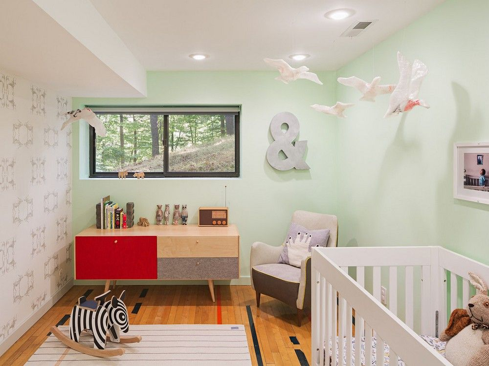 Min green walls in the kids room   | Usual House
